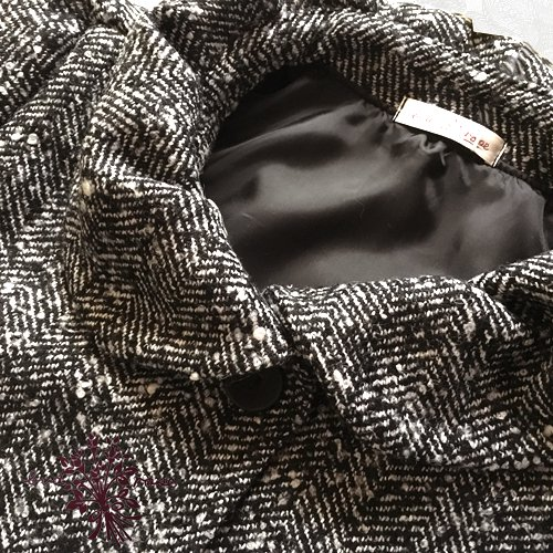 Maglia bud rose(マーリア バドローズ)ヘリンボーンギャザー襟コートの商品写真5