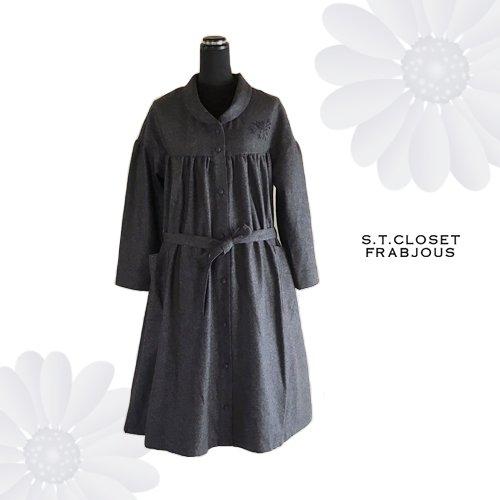 s.t.c marche(エスティークローゼットマルシェ) グレース刺繍コートワンピースの商品写真3