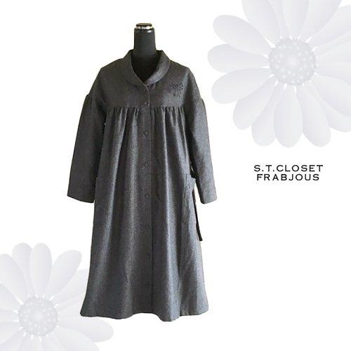 s.t.c marche(エスティークローゼットマルシェ) グレース刺繍コートワンピースの商品写真4