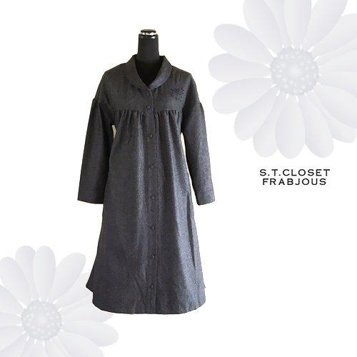 s.t.c marche(エスティークローゼットマルシェ) グレース刺繍コートワンピースの商品写真5
