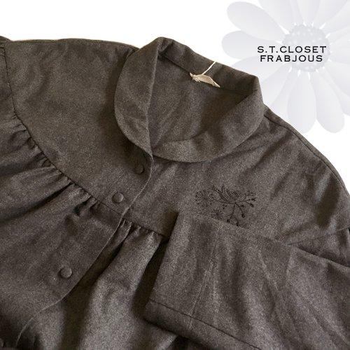 s.t.c marche(エスティークローゼットマルシェ) グレース刺繍コートワンピースの商品写真6