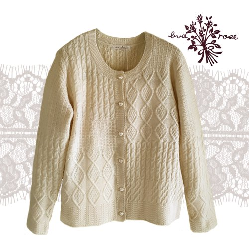 Maglia bud rose(マーリア バドローズ) 模様編みカーディガンの商品写真です