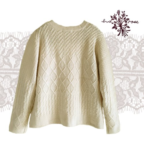 Maglia bud rose(マーリア バドローズ) 模様編みカーディガンの商品写真2
