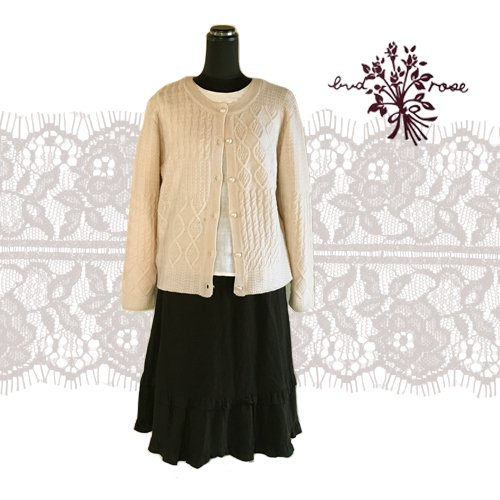Maglia bud rose(マーリア バドローズ) 模様編みカーディガンの商品写真3