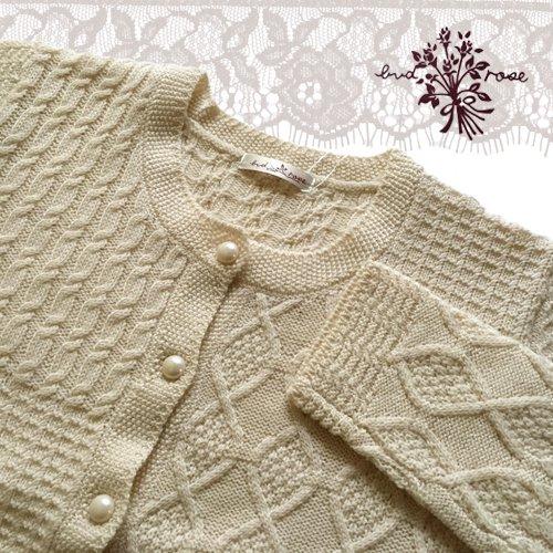 Maglia bud rose(マーリア バドローズ) 模様編みカーディガンの商品写真4