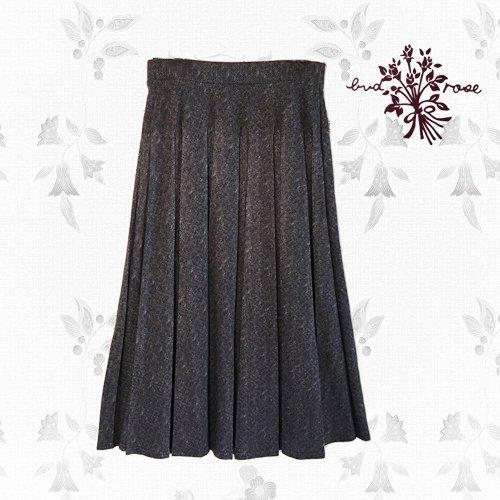Maglia bud rose(マーリア バドローズ) 起毛プリーツロングスカートの商品写真です