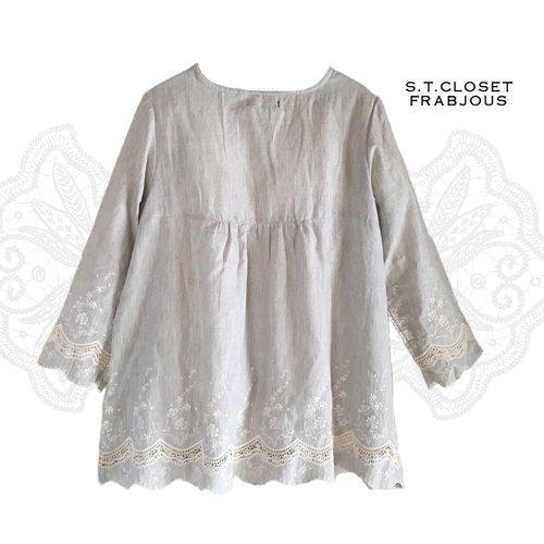s.t.closet frabjous(エスティークローゼットフラビシャス) コットンカットワークチュニックの商品写真2