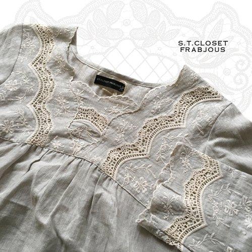 s.t.closet frabjous(エスティークローゼットフラビシャス) コットンカットワークチュニックの商品写真4