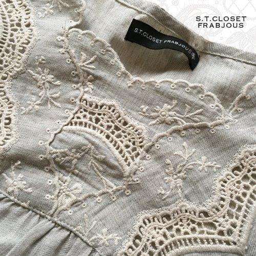 s.t.closet frabjous(エスティークローゼットフラビシャス) コットンカットワークチュニックの商品写真5