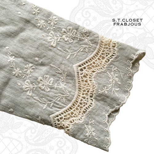 s.t.closet frabjous(エスティークローゼットフラビシャス) コットンカットワークチュニックの商品写真6