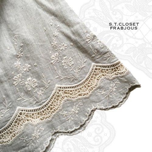 s.t.closet frabjous(エスティークローゼットフラビシャス) コットンカットワークチュニックの商品写真7