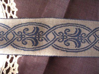 フランス製 刺繍リボン ブルーの商品写真2