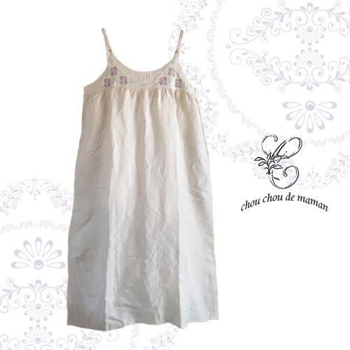chou chou de maman(シュシュドママン)クロス刺繍 キャミワンピースの商品写真です
