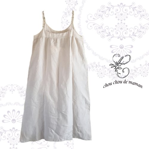 chou chou de maman(シュシュドママン)クロス刺繍 キャミワンピースの商品写真2