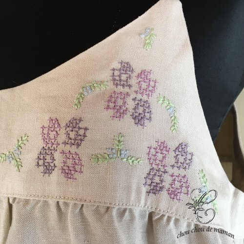 chou chou de maman(シュシュドママン)クロス刺繍 キャミワンピースの商品写真4