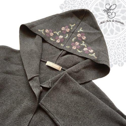chou chou de maman(シュシュドママン)クロス刺繍 ニットコートの商品写真4