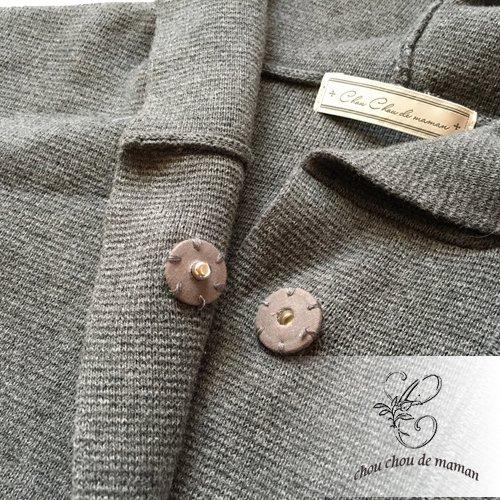 chou chou de maman(シュシュドママン)クロス刺繍 ニットコートの商品写真5
