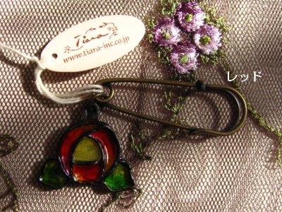 ティアラ(シュシュドママン) ステンドアクセ ローズブローチの商品写真2