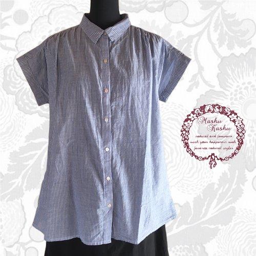 マシュカシュ(Mashu Kashu) コットンギャザーシャツの商品写真3