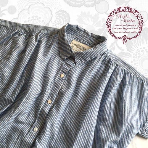 マシュカシュ(Mashu Kashu) コットンギャザーシャツの商品写真4
