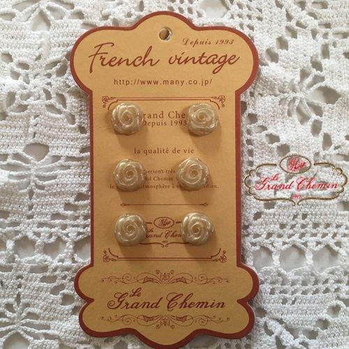 Le Grand Chemin(グランシュマン)ボタンシート 巻き薔薇の商品写真2
