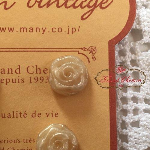 Le Grand Chemin(グランシュマン)ボタンシート 巻き薔薇の商品写真3