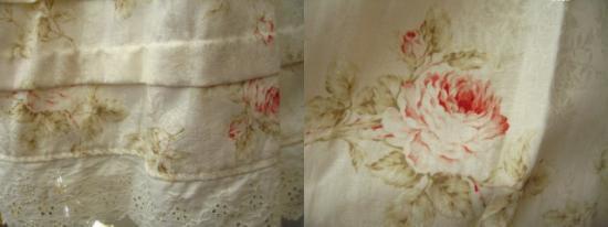 リリアンハウス フラワープリントスカート ナチュラルの商品写真3