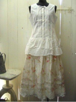 リリアンハウス フラワープリントスカート ナチュラルの商品写真4