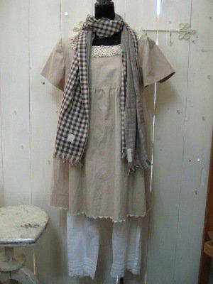 まころん* リネンチュニック 手編みレースの商品写真3