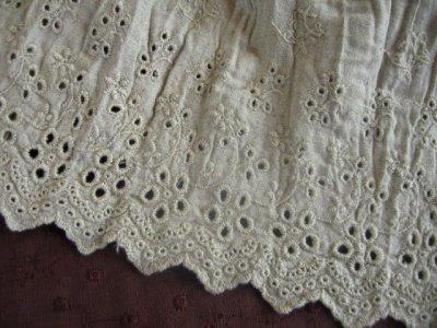 アロマドミュゲ(Arome de muguet シュシュドママン、ティアラ) リネンレーヨンカットワークストールの商品写真2