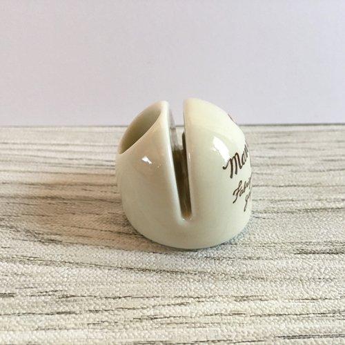 マニー うさぎ 陶器 メモスタンド丸の商品写真3