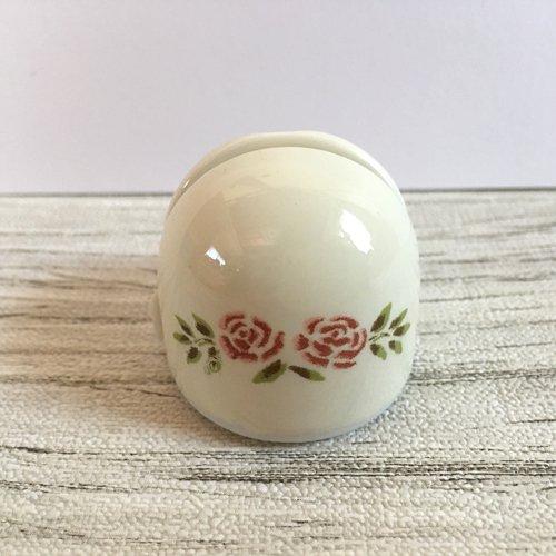 マニー ステンシルローズ 陶器 メモスタンド丸の商品写真3