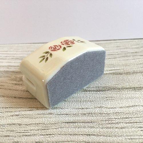 マニー ステンシルローズ 陶器 カードスタンドSの商品写真4