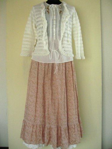 リリアンハウス(LILYAN HOUSE) 小花ピンクスカートの商品写真です