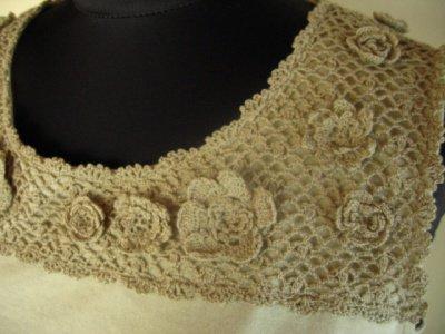マーリア バドローズ(Maglia bud rose) クロシェカットソーの商品写真3