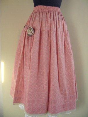 コサージュ付きピンクスカートの商品写真2