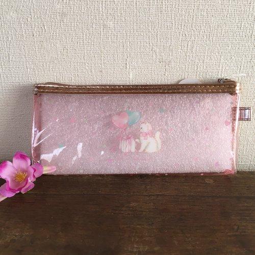 Clothes-Pin(クローズピン) たけいみきシリーズ クリアスリムポーチ キャットバルーンの商品写真2