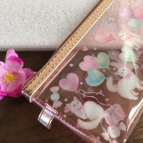 Clothes-Pin(クローズピン) たけいみきシリーズ クリアスリムポーチ キャットバルーンの商品写真3