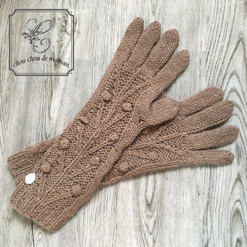 chou chou de maman(シュシュドママン) ニット小物 ロング手袋の商品写真です