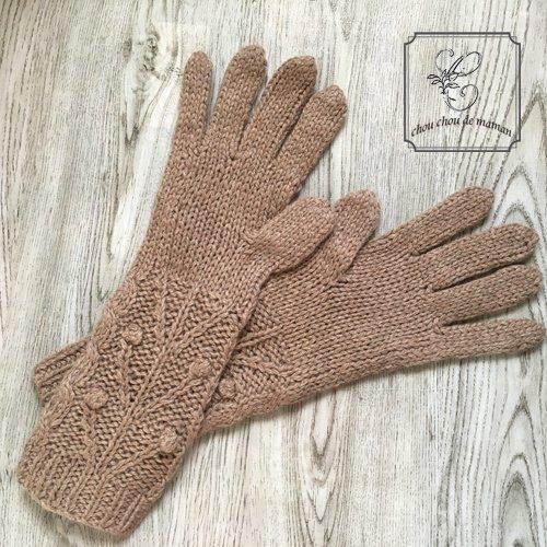 chou chou de maman(シュシュドママン) ニット小物 ロング手袋の商品写真2