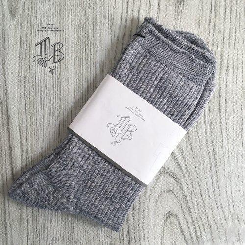 Marque de BRODEUSES(マルクドブロデュー、エムビー、シュシュドママン) Linen Socks  Socksの商品写真です