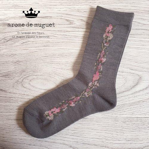Arome de muguet(アロマドミュゲ) 靴下 花柄ソックスの商品写真2
