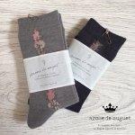 Arome de muguet(アロマドミュゲ) 靴下 花柄ソックス