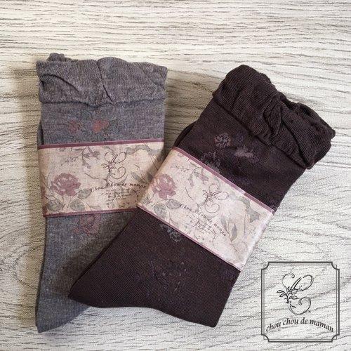 Arome de muguet(アロマドミュゲ) コットンソックス フラワー靴下の商品写真です