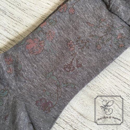 Arome de muguet(アロマドミュゲ) コットンソックス フラワー靴下の商品写真3