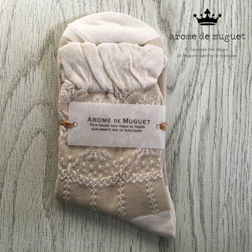 Arome de muguet(アロマドミュゲ) レースソックス ソックスの商品写真です