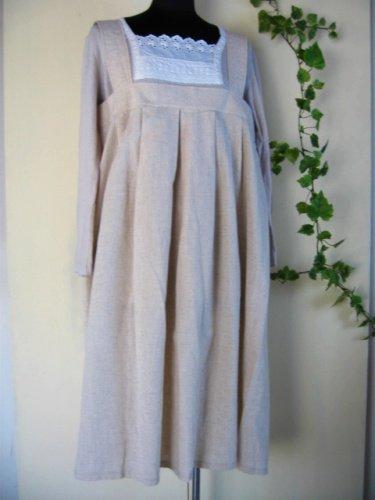 まころん* リネン ストラップジャンパースカートの商品写真です