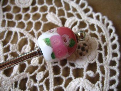 でざいん工房 Morningstar トンボ玉かんざし ピンクの商品写真2