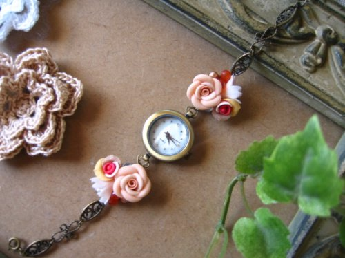 でざいん工房 Morningstar お花のブレスウォッチの商品写真です