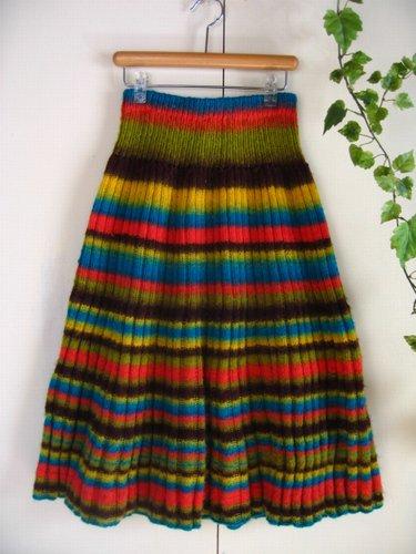 まころん* 手編みニットスカートの商品写真です